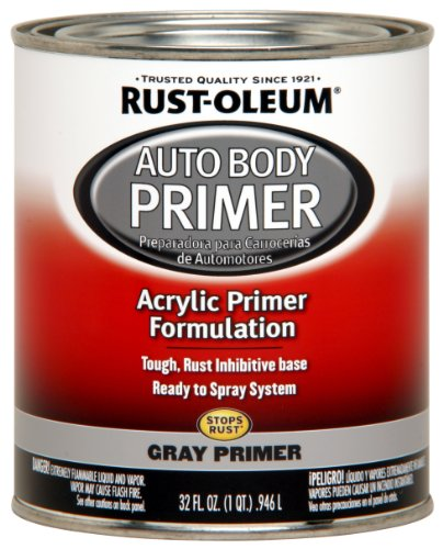 Rust-Oleum Automotive 253499 32-Ounce AutoBody Paint Quart, Gray - Gray Acrylic Lacquer