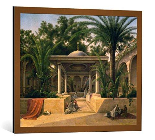 kunst für alle Framed Art Print: Grigorij Grigorjewitsch Tschernezow Brunnenhaus Khabanija in Kairo - Decorative Fine Art Poster, Picture with Frame, 31.5x25.6 inch / 80x65 cm, Copper Brushed