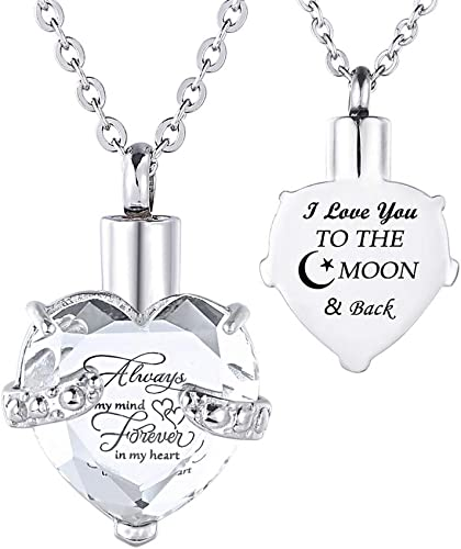 Perfect Memorials I Love You Heart Stainless Steel Cremation Jewelry