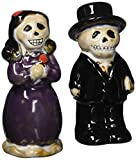 Halloween Table Decor Skeleton Couple Ceramic Salt & Pepper Shakers