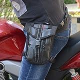 Aoile Waterproof Oxford Thigh Drop Waist Leg Bag Male Motorcycle Fanny Pack - Black