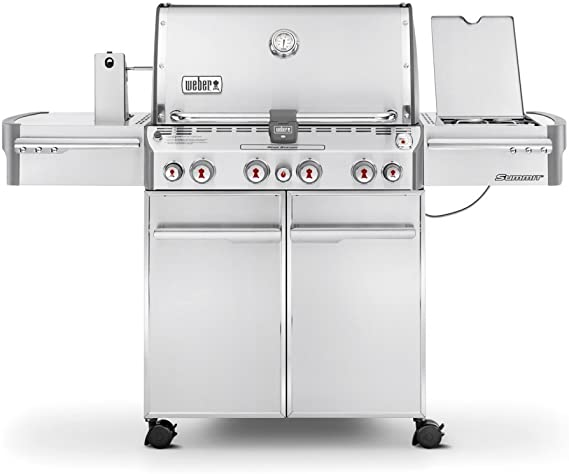 Amazon Com Weber 7170001 Summit S 470 4 Burner Liquid Propane Grill Stainless Steel Garden Outdoor