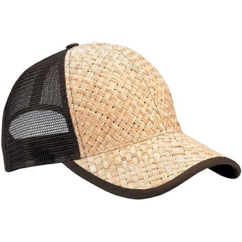 Mesh Straw Cap - Low Profile Structured Mesh Straw Trucker Cap