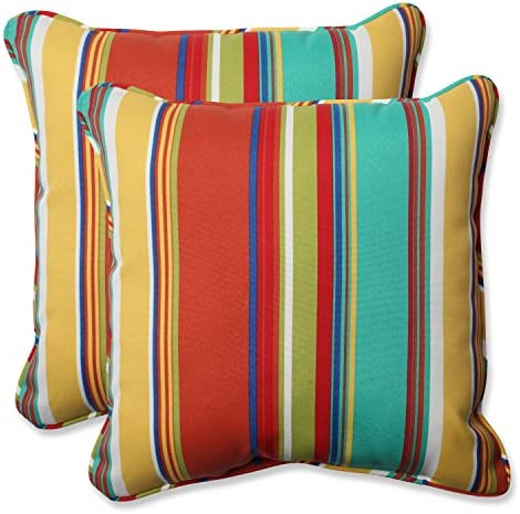 Pillow Perfect Outdoor Indoor Westport Spring Throw Pillows, 18.5 x 18.5 , Multicolored 2 Pack