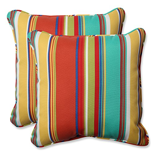 (Pillow Perfect Outdoor Westport Spring 18.5-Inch Throw Pillow, Multicolored, Set of 2)
