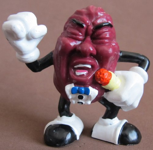 "The CALIFORNIA RAISINS Figure SINGER RAISIN Figure 2-1/2"" Tall (1987)"