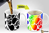 Heat Sensitive Mug | Color Changing Coffee Mug | Funny Coffee Cup | Bright Flowery Magic Mug 11 oz