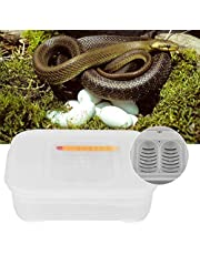 HEEPDD Terraristik Eier Inkubator, 12 Fächer Terraristik Eier Inkubieren von Tablett Brutkasten mit Thermometer für ausbrüten Schlange Eidechsen Gecko