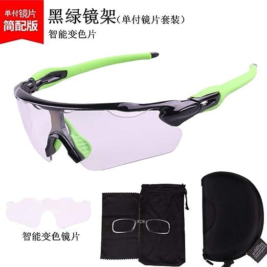 Yangjing-hl Gafas de Ciclismo Que cambian de Color Gafas de ...