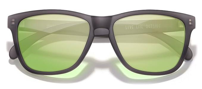 Sunski Polarized Headlands Sunglasses w  Matte Black Frame (Lime Lens) d373dfc5e8