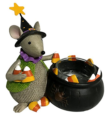 Cottage Cauldron (Lenox Halloween Mouse Witch Votive Candle Collectible Figurine 844285-4.5 Tall)