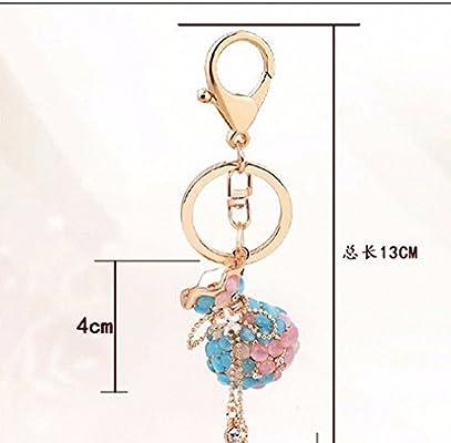 Amazon.com: Womens Rhinestone Opal Vase Keychain Crystal ...