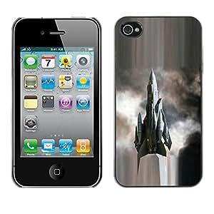 TopCaseStore / la caja del caucho duro de la cubierta de protección de la piel - Modern fighter - Apple iPhone 4 / 4S