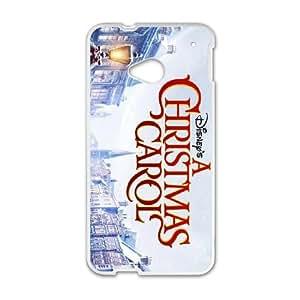 HTC One M7 Cell Phone Case White Christmas Carol 005 YB4919233