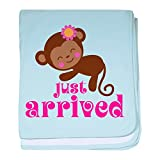 CafePress - Just Arrived Monkey - Baby Blanket, Super Soft Newborn Swaddle