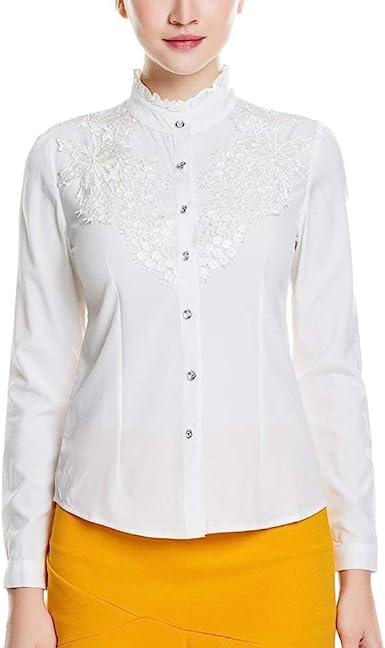 Blusa Ligera Camisa Soft The Lace Button Blusa Camisa De Ropa ...