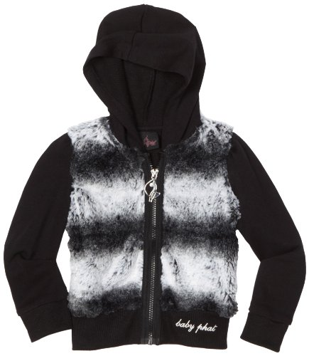 Baby Phat Little Girls' Chinchilla Faux Fur Hoodie Sweater