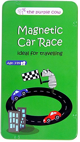 Magnetic Travel Car Race Game - Car Games , Airplane Games and Quiet Games (Airplane Travel For Toys)