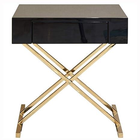 Amazon.com: HANSHAN Mesa auxiliar armario, mesa auxiliar de ...