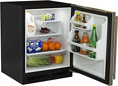Marvel MA24RAS2RS ADA Refrigerator with Glide Out Crisper and Right Hinge Door, 24-Inch