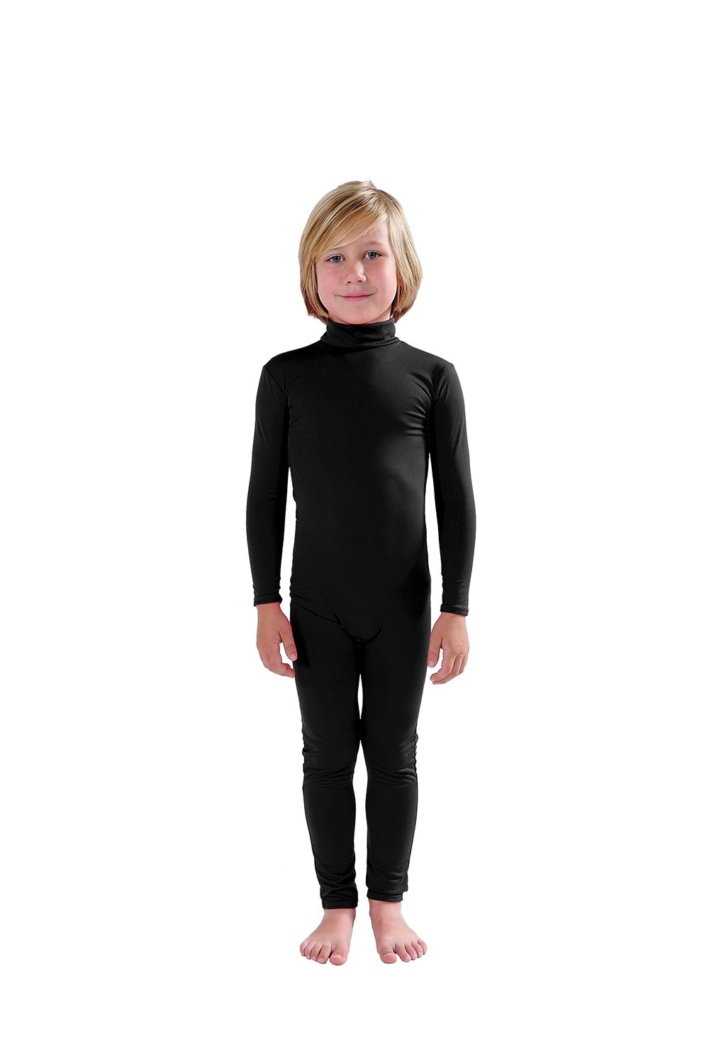 - 51kS8pTi7zL - Full Bodysuit Kids Dancewear Without Gloves and Socks Solid Color Lycra Spandex Zentai Child Unitard