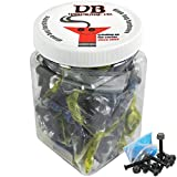 Bulk Dime Bag Skateboard Hardware 1.5'' Phillips Black 25 Sets Shop Display Case