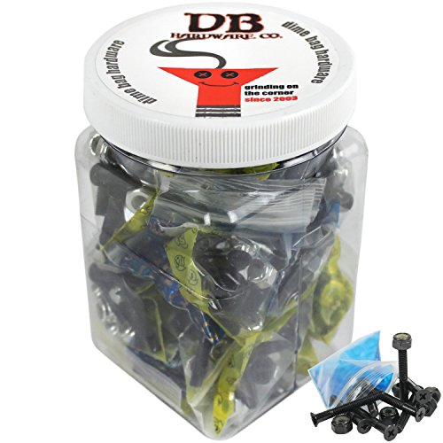 BULK Dime Bag Skateboard Hardware 1.5'' Phillips Black 25 Sets Shop Display Case by Dime Bag Hardware