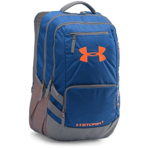 Under Armour Storm Hustle II Backpack, Royal/Blaze Orange, One Size (Under Armour Y Backpack)