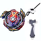 BXE Bey Battling Top BURST B-96 Shock STRIKE GOD VALKYRIE.MUGEN DX Infinity With Launcher + Grip Kids Toys Metal Plastic Fusion 4D Gift Toys For Children