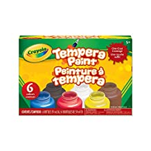 Crayola Tempera Paint-6 Count