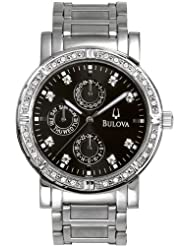 Bulova Mens 96E04 Diamond Multifunction Watch