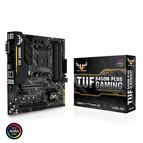 Asus TUF B450M-PLUS Gaming Motherboard Micro ATX, AMD Ryzen 2 AM4, HDMI, DVI-D