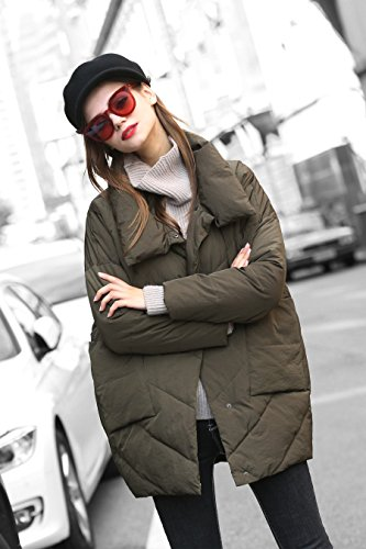 Clearance Green Jacket Water Women Anorak u you Quilted Collar Resistant Stand vzw5nq