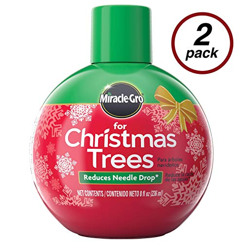 Miracle-Gro for Christmas Tree Plant Food, Hydrates Trees and Keeps Christmas Trees Green All Holiday Season, 2 Pack (Tree Keep Fresh Christmas)