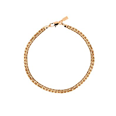 b02afd4376bf0 Mister Value Yellow Gold Plated 4mm Cuban Curb Anklet or Ankle Bracelet  Chain