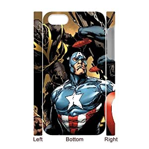 QSWHXN Diy hard Case Avengers Marvel customized 3D case For Iphone 4/4s