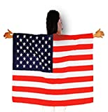 Playo American Flag Design Cape 40