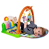 Baby Play Gym Piano Mat - Infant Activity Center, Kick and Play Newborn Toy For Boys and Girls 2 - 36 Month, Lay and Play, Tummy Time, Sit and Play, 4 Activity Toys, Mirror, Piano by Tapiona