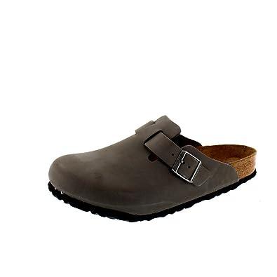 Boston Soft Footbed Gunmetal Nubuck Leather