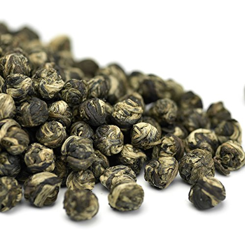 Teavivre Jasmine Dragon Pearls Green Tea Loose Leaf Chinese Tea - 3.5oz / - White Pearl Green