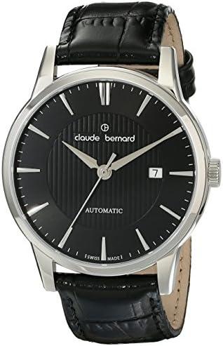 Claude Bernard Men s 80091 3 NIN Classic Automatic Analog Display Swiss Automatic Black Watch