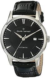 Claude Bernard Men's 80091 3 NIN Classic Automatic Analog Display Swiss Automatic Black Watch