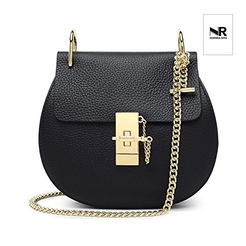 Mini Flap Normia Ring Pattern Black For Rita Bags Bag Chain Girls Crossbody Envelope Bag U Punk Clutch Style lichee Bag pOrpn