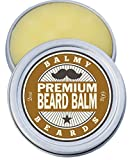 Facial Massage For Beard Growth - Balmy Beards Best Premium Beard Balm and Leave In Conditioner and Wax - All Natural Organic Beard and Mustache Softener - Styles, Strengthens and aids Hair Growth (Cedarwood)