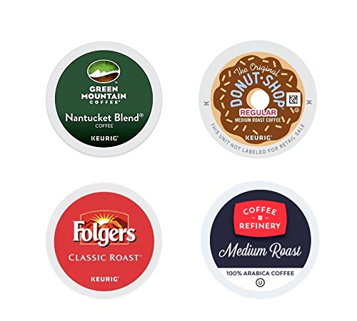 Medium Roast Variety Pack, The Original Donut Shop Coffee, Folgers Classic Roast, Green Mountain Nantucket Blend, Coffee Refinery. For Keurig K-cup brewers 96 Count. (Shop Variety Pack)