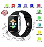 Smart Watch Android,HongTu Bluetooth Smart Watch Touchscreen with Camera Pedometer SIM TF Card Slot for LG XiaoMi Huawei Samsung iOS for Mens Women (Black)