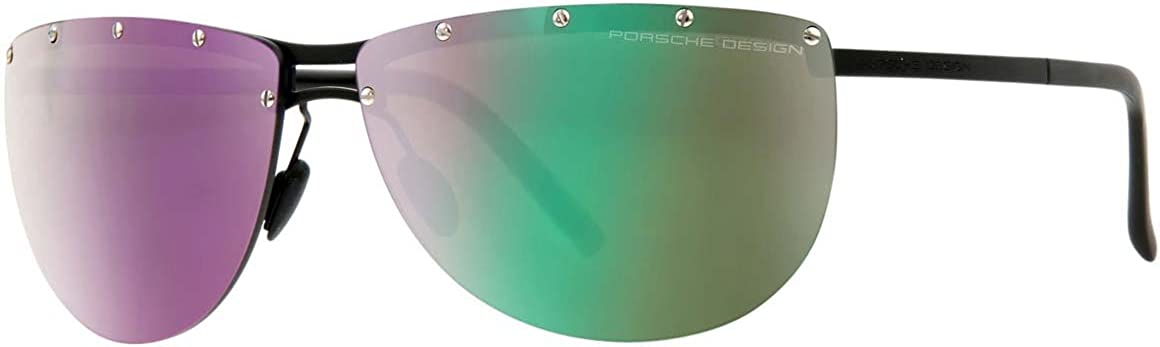 Porsche P8577-D Black Aviator Sunglasses