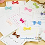"""Bow Tie, HipGirl 30pc Ribbon Applique Embellishment for Crafts, DIY Hair Clips, Christmas Cards, Scrapbooks, 1.25""""-1.5"""" Grosgrain Ribbon Solid and Swiss Polka Dot Mini Bow Tie Bows"""