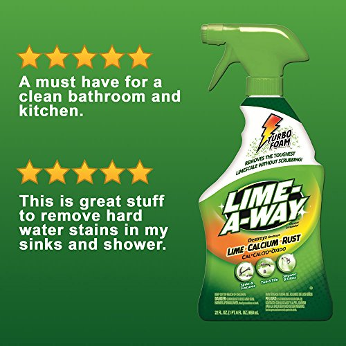 Lime-A-Way Bathroom Cleaner, 32 fl oz Bottle, Removes Lime Calcium Rust