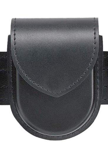Safariland Duty Gear Hidden Snap Flap Top Double Handcuff Pouch (Plain Black)